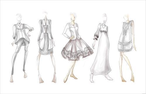 服装设计的应用属于立体构成范畴,服装设计也就是运用美的形式法则图片