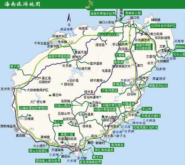 导游地图:海南岛地图