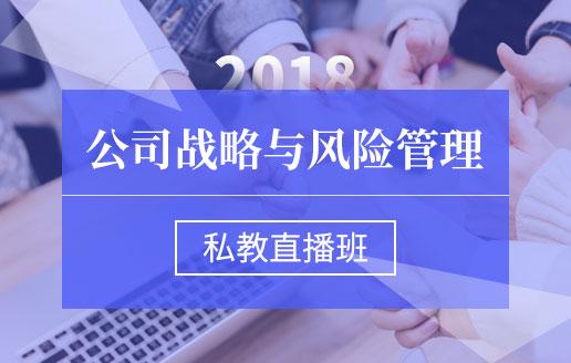 2018《公司战略与风险管理》私教直播班