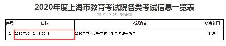 江苏成人高等学校招生全国统一2020年考试时间