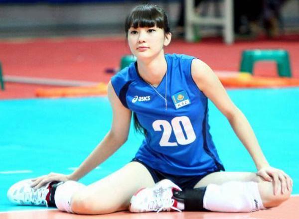 哈萨克女排20号走红 盘点中国体坛长腿美女